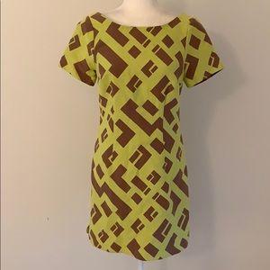 Plenty by Tracey Reese Yellow Geometric Dress